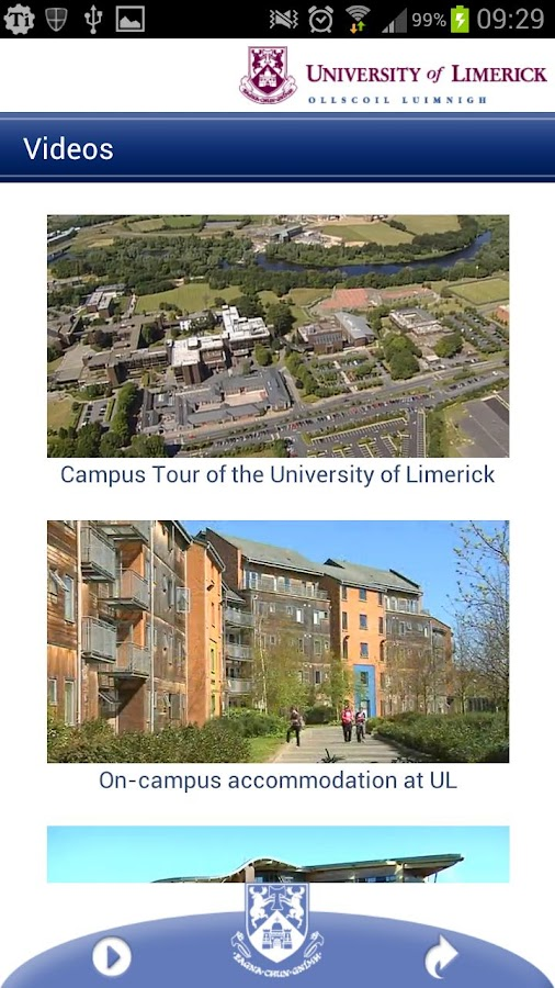 University of Limerick- screenshot