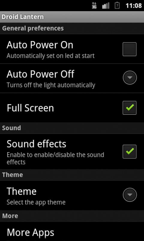 Droid Lantern Free - screenshot
