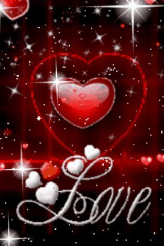 Red Heart Love Live Wallpaper