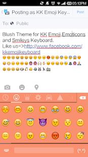 Blush Theme - Emoji Keyboard
