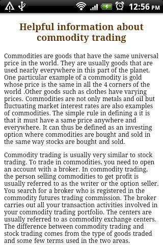 Commodity Trading. - screenshot
