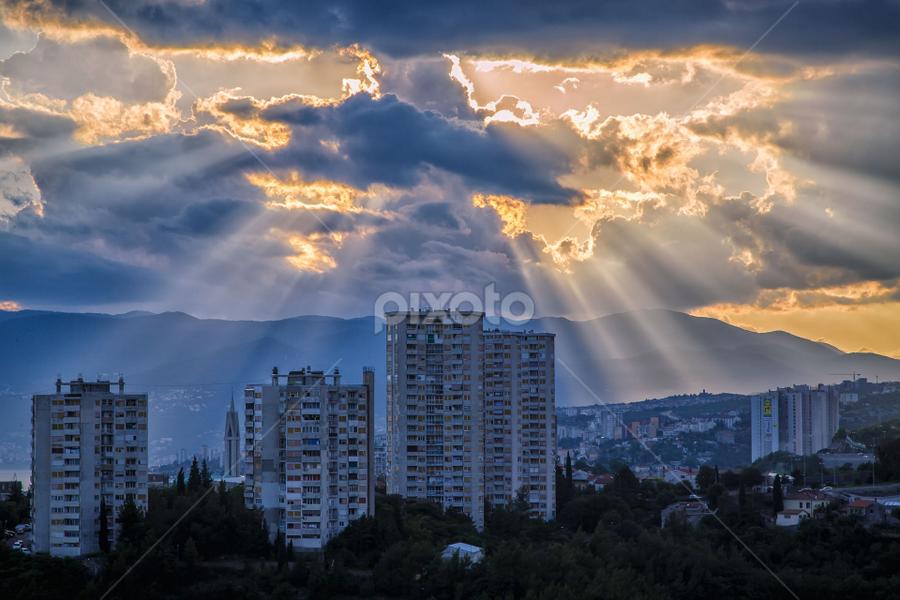 Rijeka town by Stanislav Horacek - Landscapes Weather