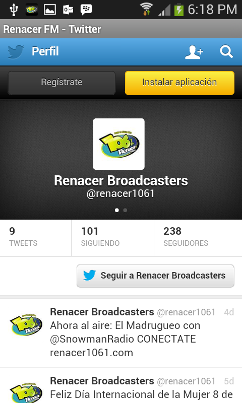Renacer FM- screenshot