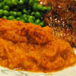 Mashed Sweet Potatoes and Pears.