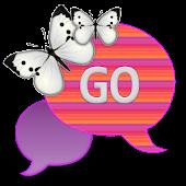 GO SMS THEME|PastelStripesSky