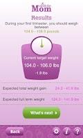 Screenshot of Pregnancy Weight Calculator
