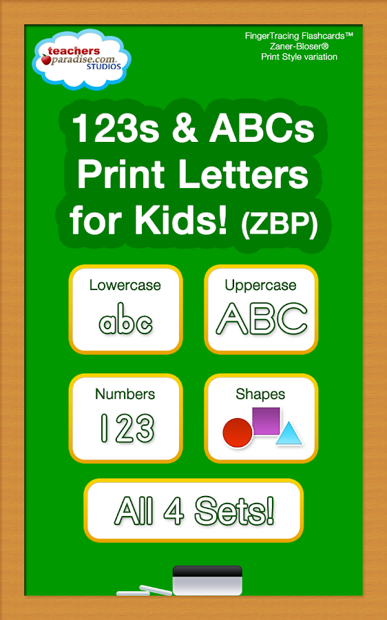 123s ABCs Handwriting Fun SET1 - screenshot