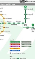 Screenshot of Singapore Offline MRT map