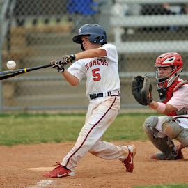 by Frank McConahey - Sports & Fitness Baseball ( teen, baseball, homerun )