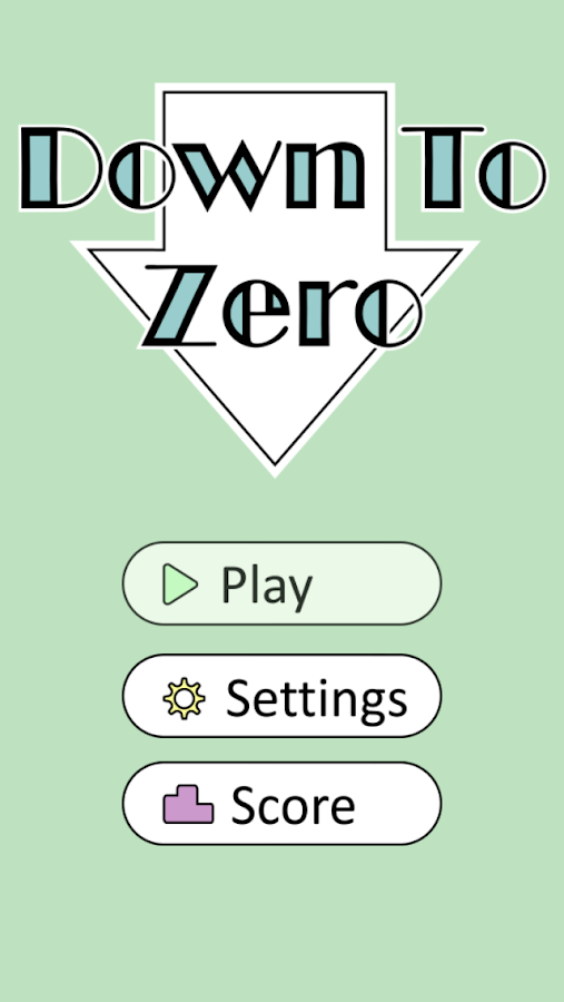 Down to Zero - Brain Teaser- screenshot