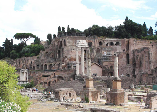Palatine-Hill-Rome - A shot of Palatine Hill, or the Palatino, in Rome, between the Roman Forum and the Circo Massimo.