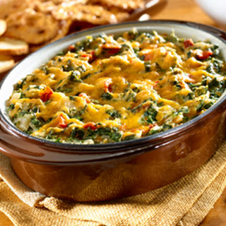 Hot Cheesy Spinach Dip.