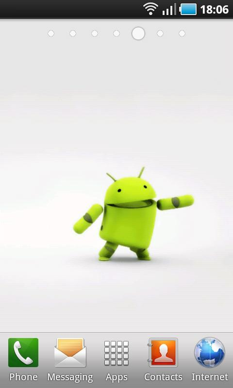 3D Dancing Android Boy LWP- screenshot