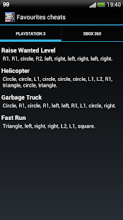 GTA 5 - Cheats codes - screenshot thumbnail