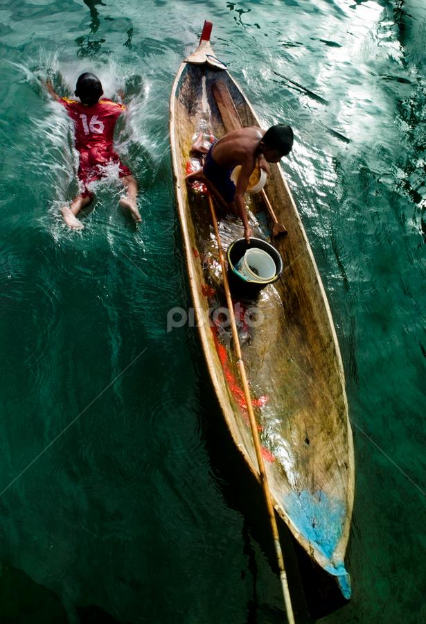 Jump by Tamin Ibrahim - Babies & Children Children Candids ( boats, ocean, kids, chld, people )