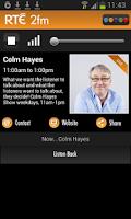 Screenshot of RTÉ Radio Player