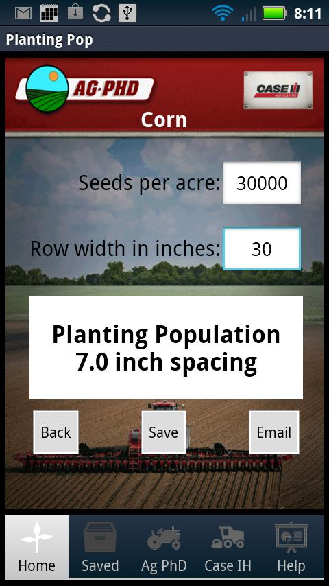 Planting Population Calculator- screenshot