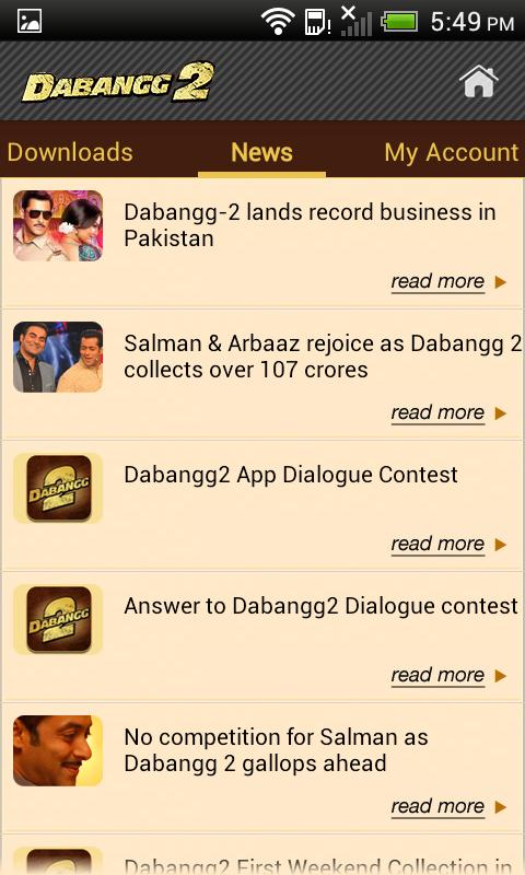 Dabangg 2 Official Free App- screenshot