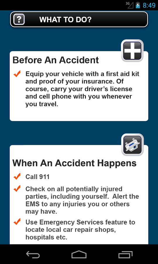 Accident App by Alexander Law- screenshot