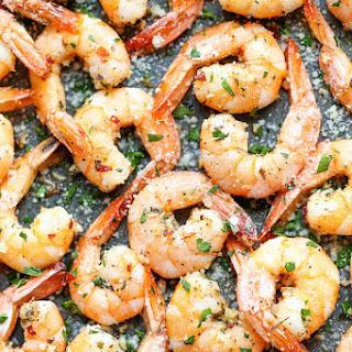 Garlic Parmesan Roasted Shrimp.