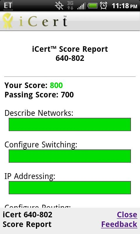 iCert Practice Exam CCNP ROUTE - screenshot