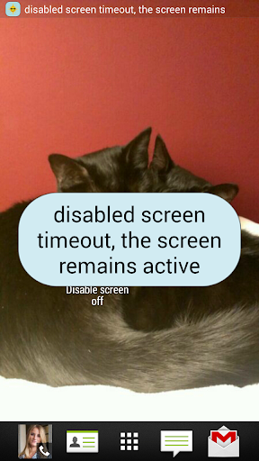 Disable screen off