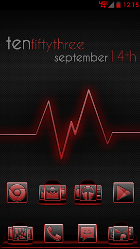 Serenity Launcher Theme Red