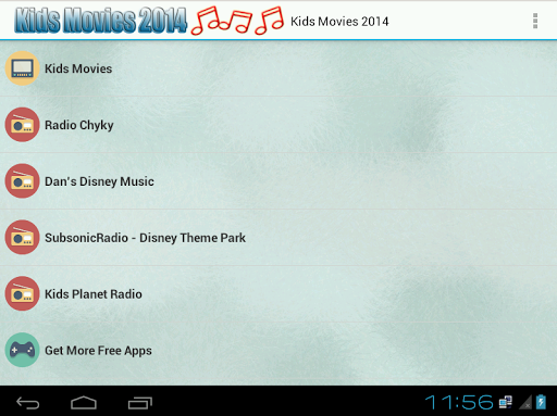 Kids Movies 2014 and Radio