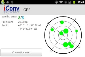 Screenshot of iConv: Coordinate converter