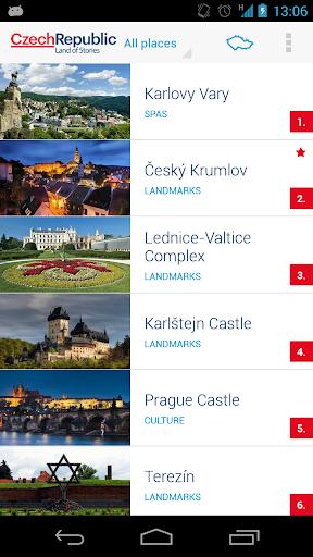 TOP100 Czech Republic's sights