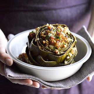 Pancetta-Stuffed Artichokes