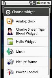 Charlie Sheen Widget! Screenshot 2
