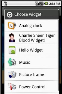 Charlie Sheen Widget! Screenshot 2