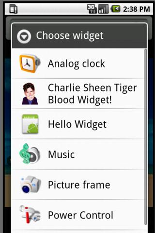 Charlie Sheen Widget! - screenshot