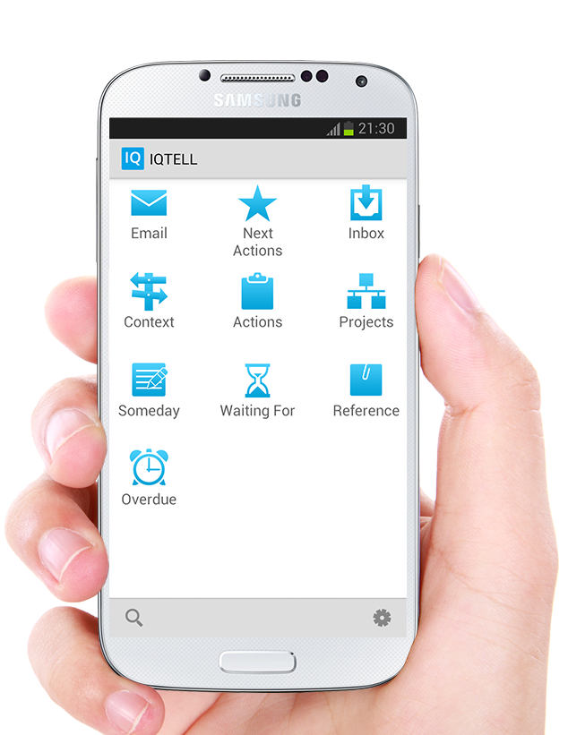 IQTELL Email app and GTD® - screenshot