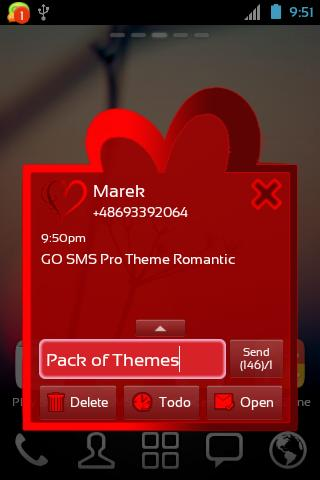 GO SMS Pro Theme Romantic - screenshot