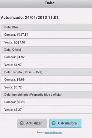 iDolar, Dolar Blue - screenshot