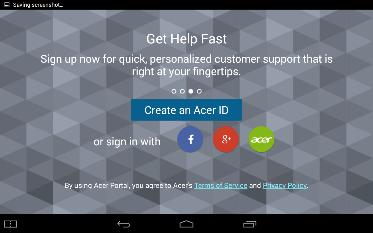 Acer Portal- screenshot