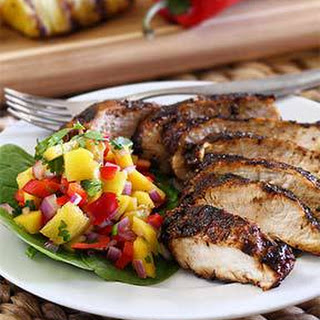 Paleo Jerk Chicken with Mango-Pineapple Salsa