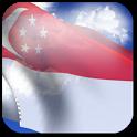 3D Singapore Flag + icon