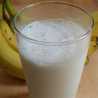 Icy Banana Milkshake.