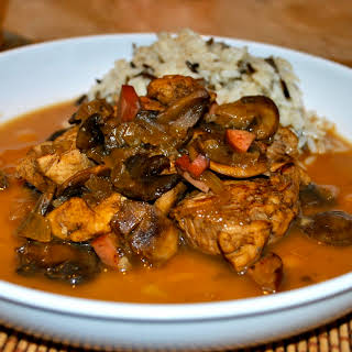 Chicken with Beer and Mushrooms.