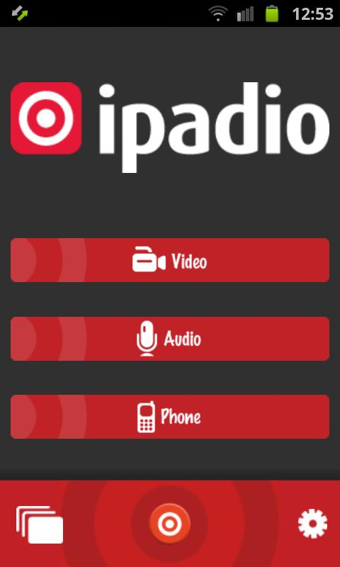 ipadio - screenshot