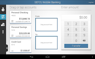 Screenshot of SEFCU Mobile Banking