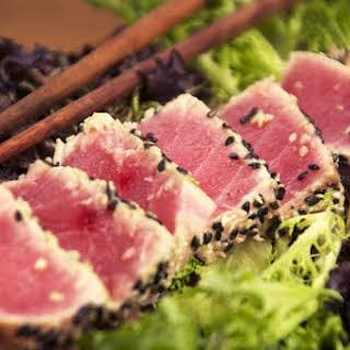 Sesame & Wasabi Seared Tuna.