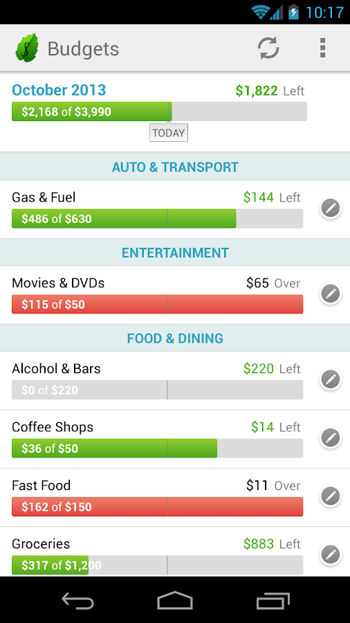 Mint.com Personal Finance - screenshot