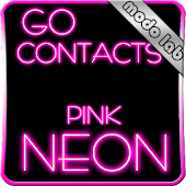 Pink Neon GO contacts theme