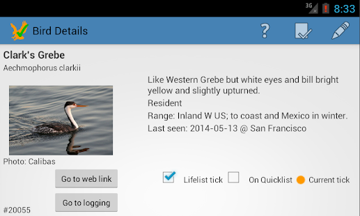 US Birding Checklist (demo) - screenshot thumbnail