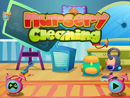 女の子のゲームを掃除保育園