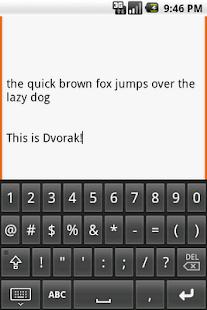Dvorak keyboard - screenshot thumbnail